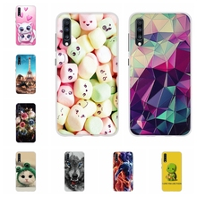 For Samsung Galaxy A70 Case Soft TPU Silicone SM-A705F Cover Flowers Pattern Shell