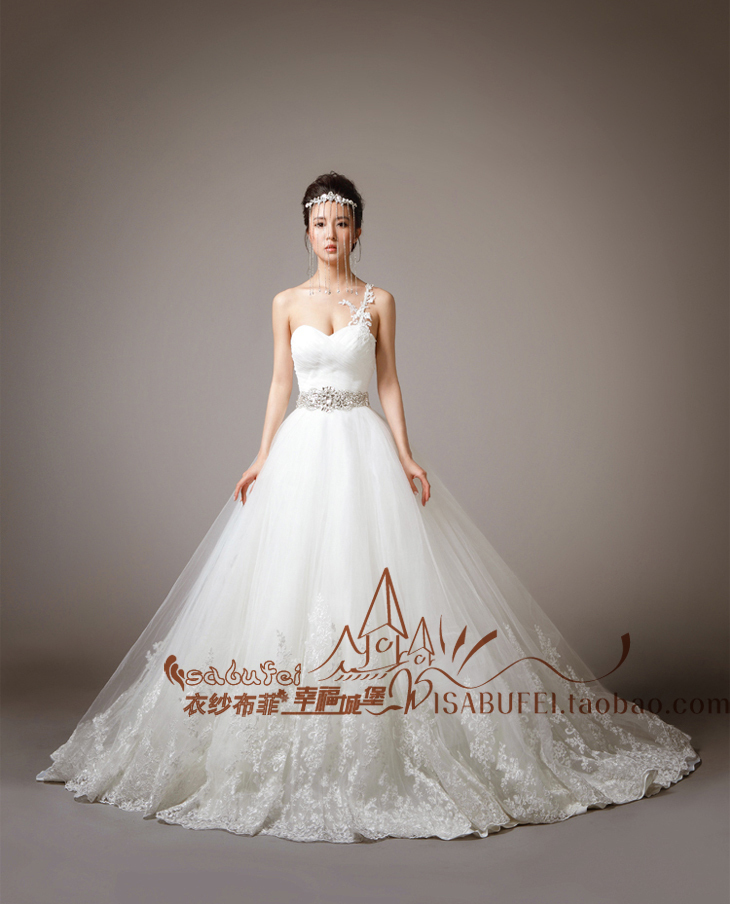 Crystal Belt Romantic New Fashionable Sexy Sweetheart Vestido De Novia Casamento Bridal Gown Wedding Dress 2014 Free Shipping