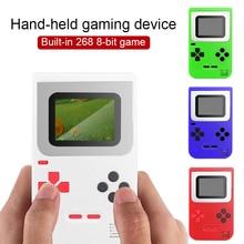 """Mini console de jogos de vídeo portátil melhor presente retro 8 bits embutido 268 jogos clássicos 2.0 """"entretenimento tv jogador de jogo portátil"""