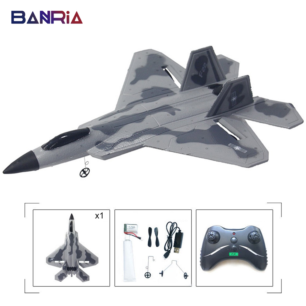 F22 Rc Airplane Kit Epp Plane Toy Jet Glider Remote Control Wing Model Mini Planes Electric Free Flying Battery Chargers FX-822