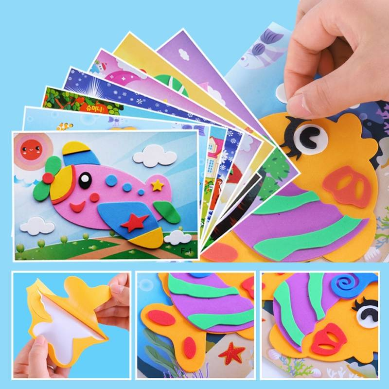 3D EVA Foam Sticker  DIY Cartoon Animal Puzzle For Children Kids Multi-patterns Styles Toys For Children Gift