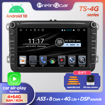 Android 10.0 2 Din For VW Volkswagen Golf 7 Polo Passat b7 b6 SEAT leon Skoda Car radio Multimedia Video Player gps navigation image