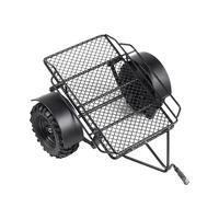 1/10 RC Car Mini Trailer 220*205MM Metal Hitch Mount DIY Modified Trailer for RC Crawler Axial SCX10 90046 TRX4 D90 Tamiya CC01