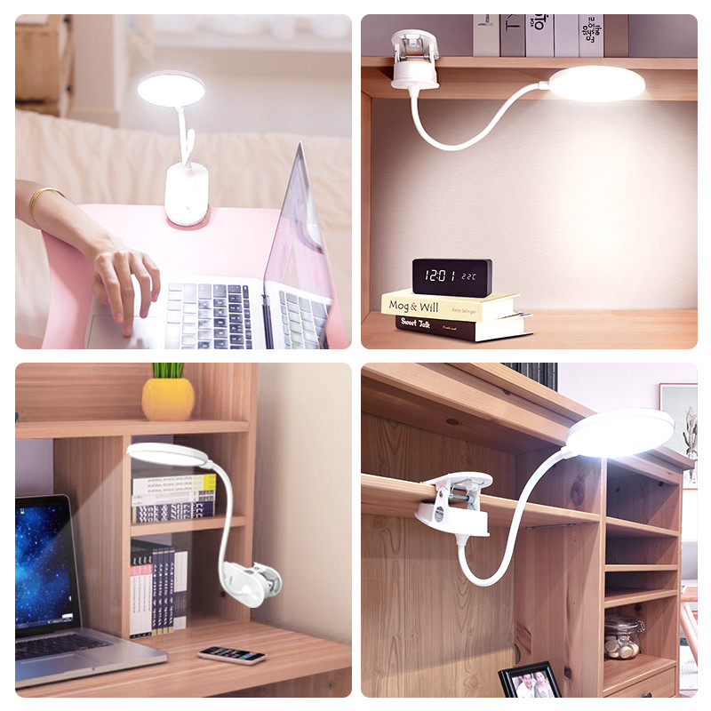 Купить с кэшбэком Clip Wireless Table Lamp Study 3 Modes Touch 1200mAh Rechargeable LED Reading Desk Lamp 7000K USB Table Light Flexo Lamps Table