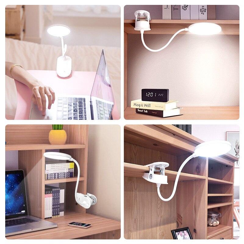 Lámpara LED flexible con pinza