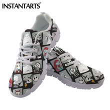 INSTANTARTS The Nightmare Before Christmas Pattern Woman Flats Shoes