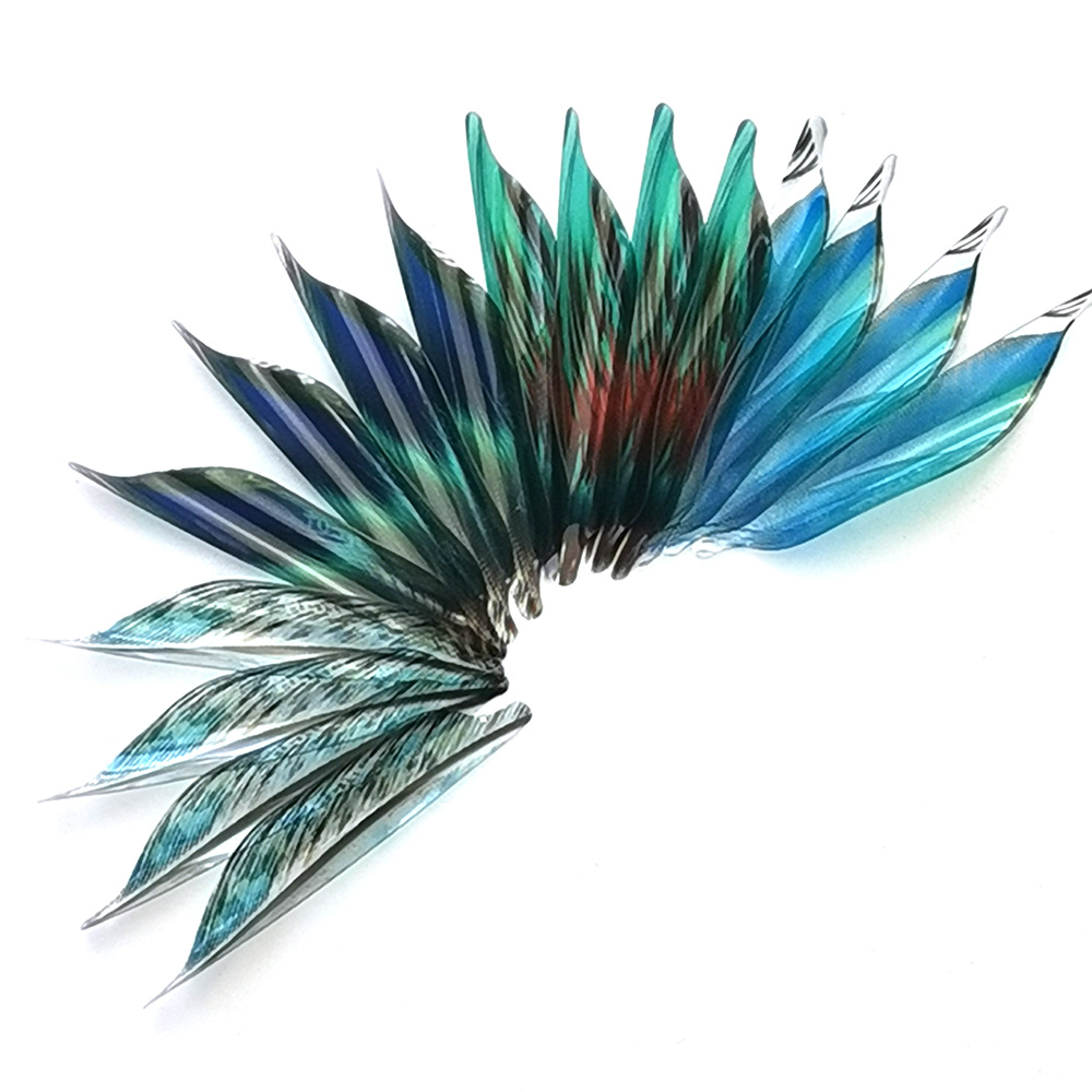 50pcs  New Archery Spin Vanes 1.75inch Spiral Feather Right And Left  Wing DIY  Arrow Archery With Tape  Arrow Accessories