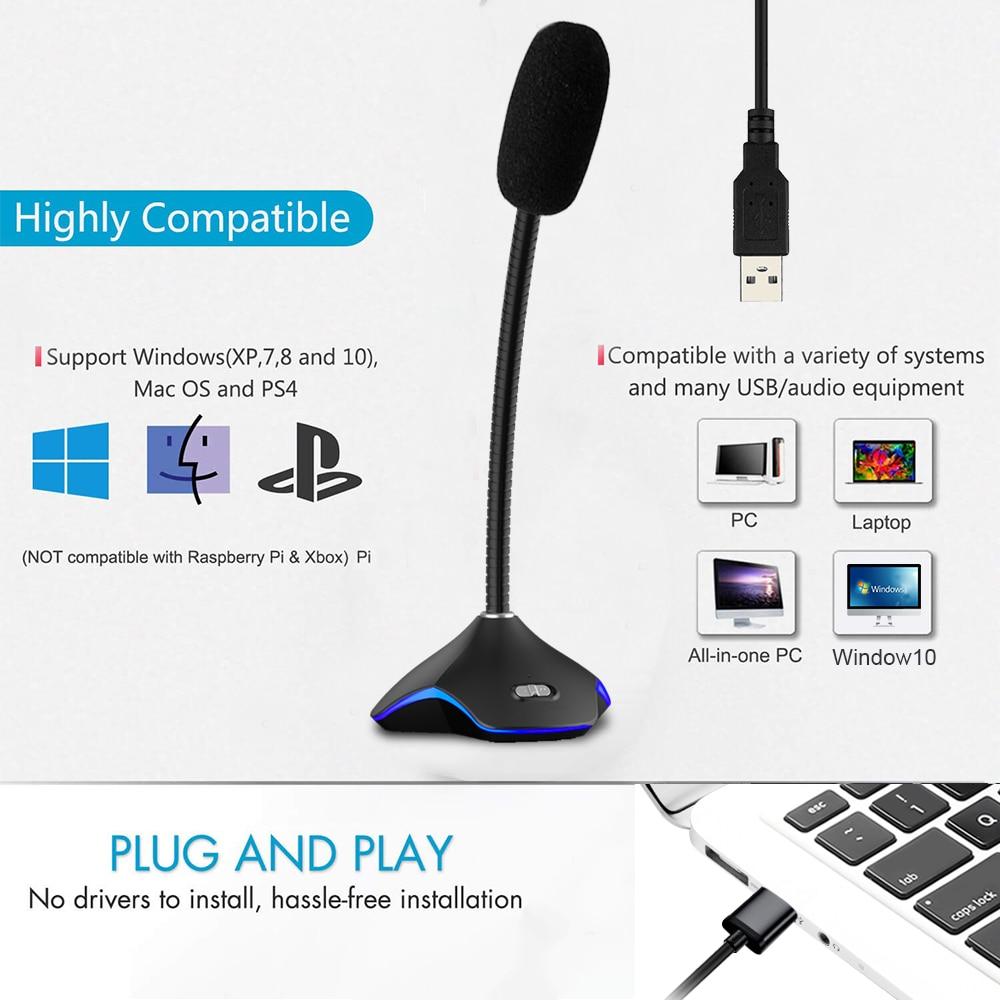 Hama Flexible USB LED Light with 10 LEDs White Laptop // MAC // Desktop PC