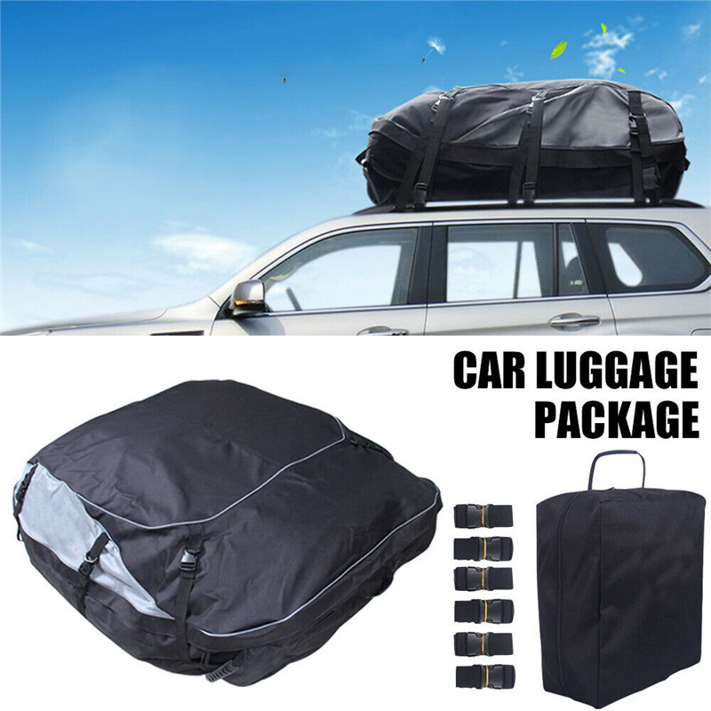 160x110x45cm Universal Waterproof Car Roof Top Rack Bag Cargo Carrier 7