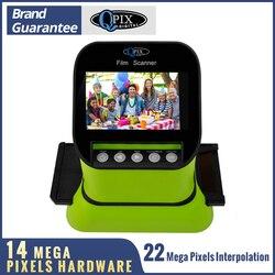 Escáner de película deslizante de alta resolución de 22 Mega píxeles 120 escáner de foto negativo de 35mm Digital 135 126KPK Convertidor para películas 4,3 LCD