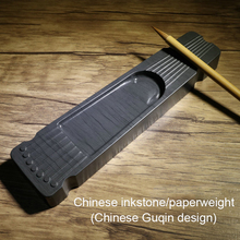 Chinese Four Treasures Of The Study China Inkstone Grinding Inkwell Made of Natural Stone Ink Slab She Yan Tai Guqin Design