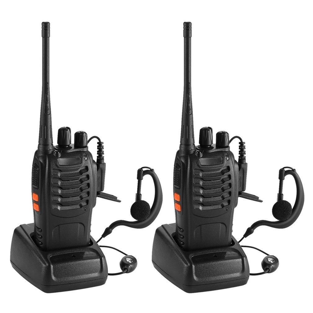 2PCS Baofeng BF-888S UHF 400-470 MHz 2-Way Radio Twee  16CH Walkie Talkie With Mic FM Transceiver DC Power