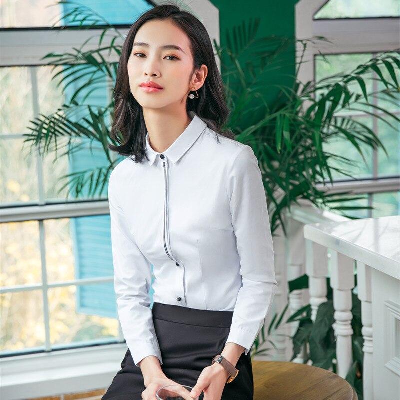 Sy820 белая рубашка с квадратным воротником Ol одежда для путешествий приталенная универсальная модная Элегантная блузка с длинным рукавом/