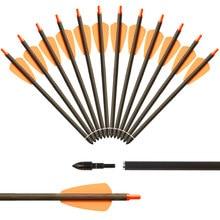 Frecce a balestra per la caccia frecce da tiro con l'arco da 7.5 pollici frecce in carbonio puro per sport di tiro all'aperto