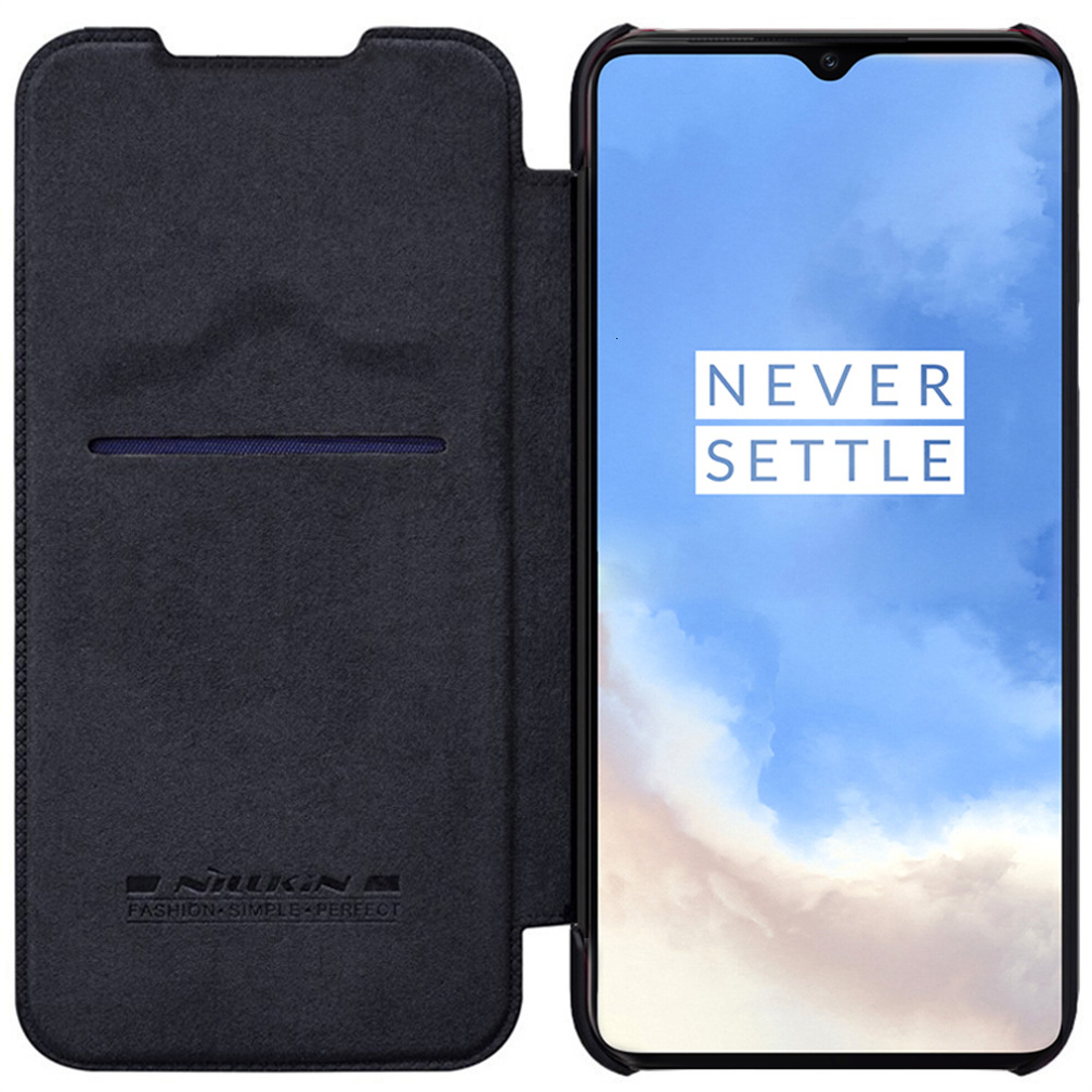 For Oneplus 7T Pro Flip Case NILLKIN QIN Flip Leather Cover For Oneplus 7T Case wallet Phone Case with Card Pocket