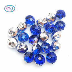 HL 40pcs Deep Blue Color Round Acrylic Buttons Apparel Sewing Supplies Garment Accessories DIY Crafts A733