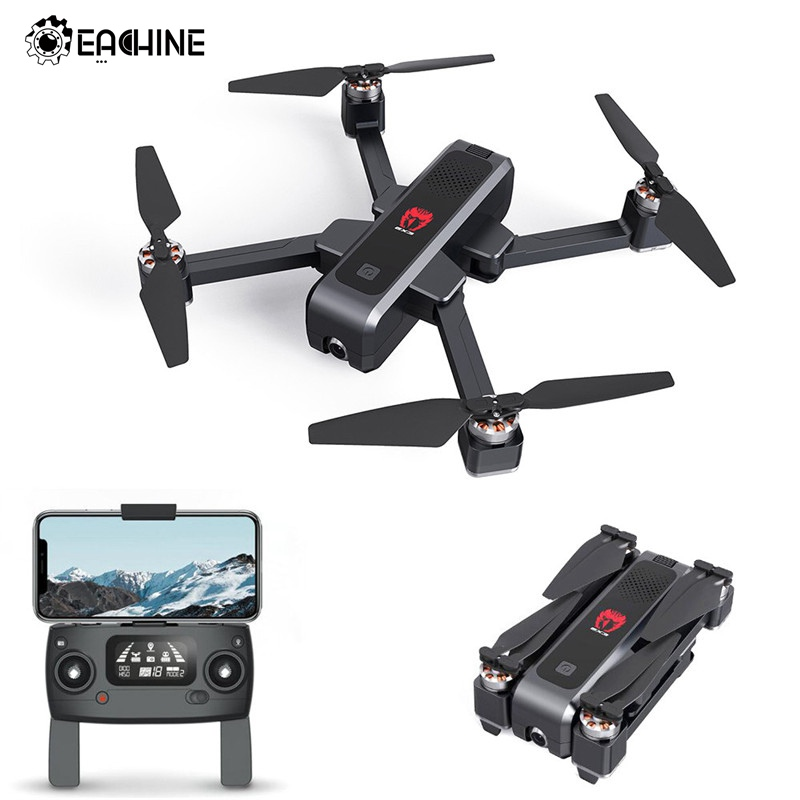 Eachine EX3 GPS 5G WiFi FPV with 2K Camera Optical Flow OLED Switchable Remote Brushless Foldable RC Drone Quadcopter RTF image