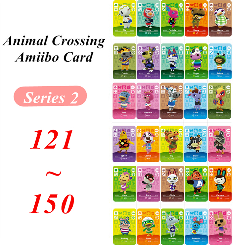 121 To 150 Animal Crossing Card Amiibo NFC Card For Nintendo Switch NS Games Series 2