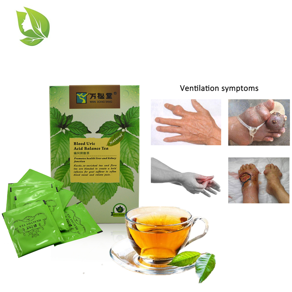 Chinese Herbal Te_abags Blood Uric Acid Balance Te_a Te_abags Gout Uarthritis Treatment Diuretic Liver Kidney Booster