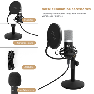 Image 3 - UHURU UM910 USB Microphone 192 kHz/24Bit Condenser Podcast Mikfofon Plug&Play Computer Mic for Gaming Youtube Vocal Recording
