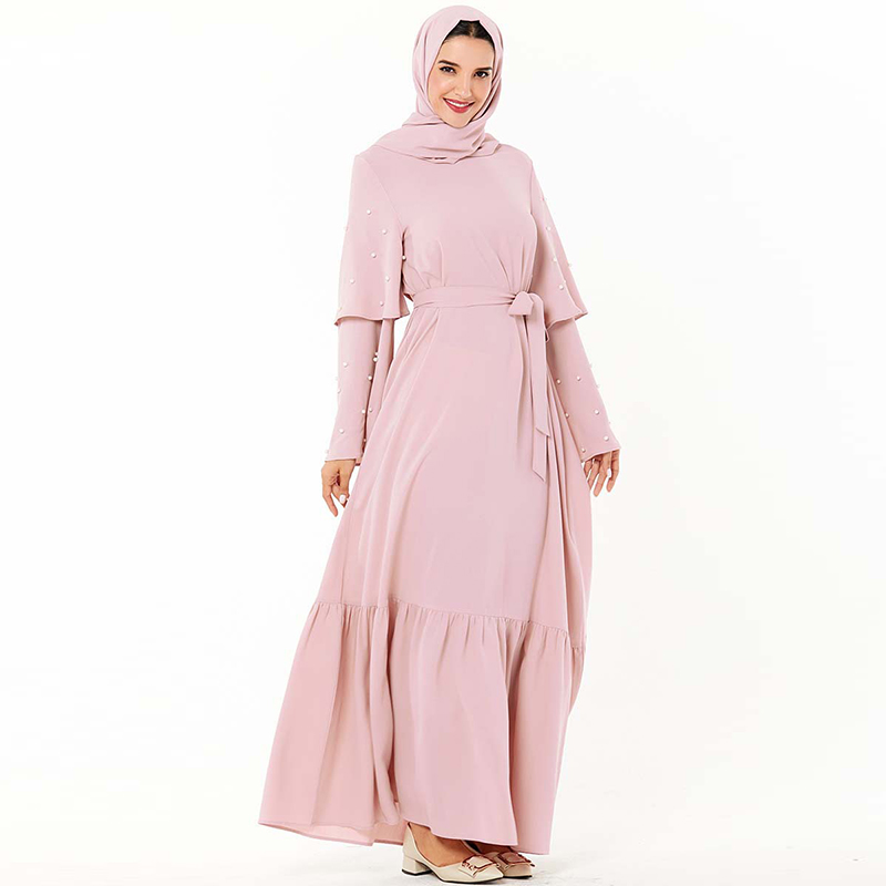 Arabic Abaya Kaftan Dubai Muslim Hijab Dress Turkish Dresses Ramadan Islamic Clothing For Women Caftan Grote Maten Dames Kleding