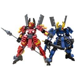 O Projeto Original Guerreiro Mecha Building Blocks Brinquedos Para Crianças Armadura Robôs Anime Figura Modelo 26cm Montagem Bonecos de Ação