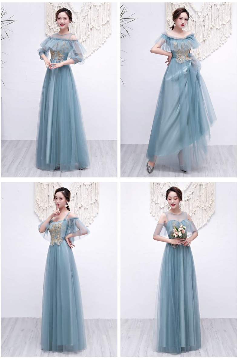 Burgundy Bridesmaid Dresses Tulle Elegant Vestido Azul Marino Wedding Party Dresses For Women Long Prom Dress Sexy Sister Club