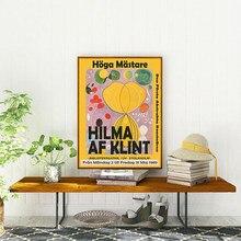 Hilma Af Klint impression sur toile moderne abstrait musée exposition affiche Art Nouveau peinture décoration murale décor à la maison