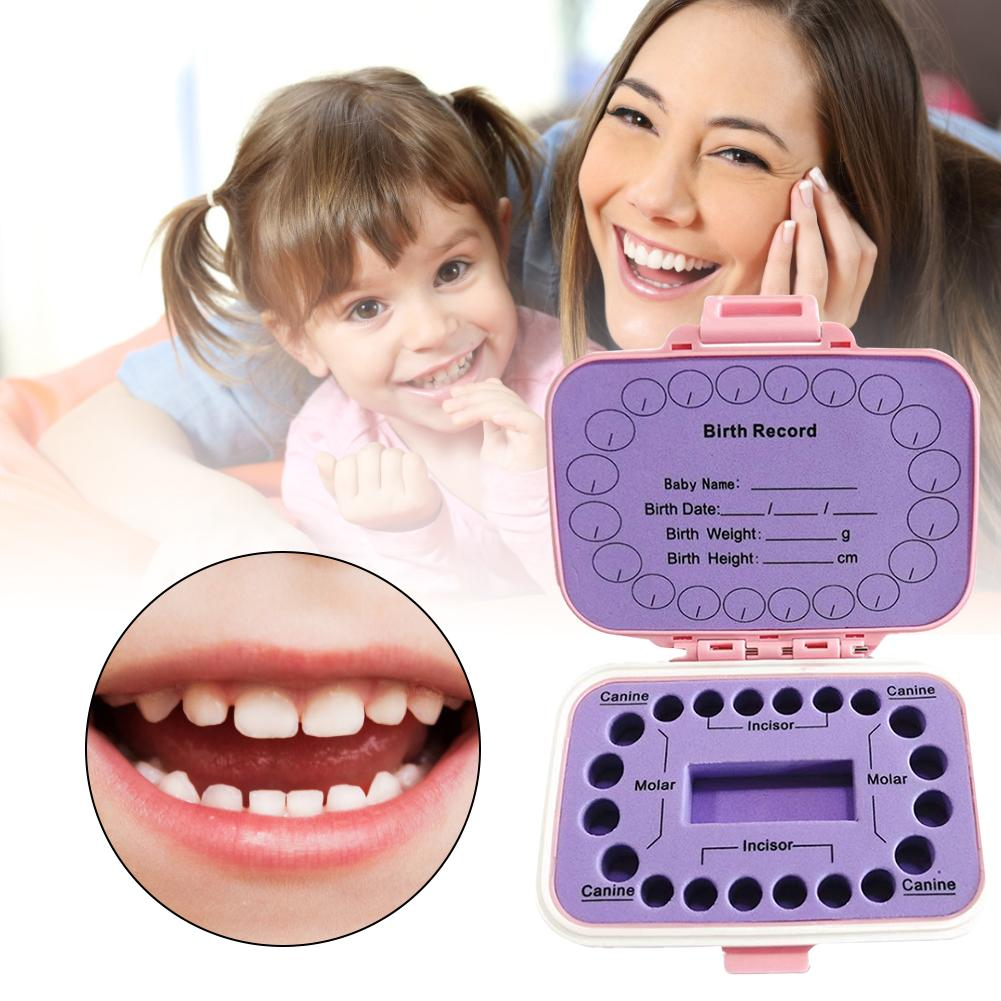 Waterproof Dust-proof Baby Tooth Box Baby Hair Collection Plastic Box Tooth Saving For Boys Girls