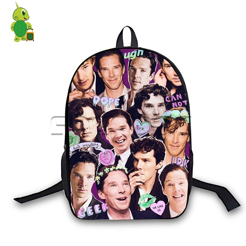 Benedict Cumberbatch Collages Backpack Children School Bags Doctor Strange Laptop Backpack For Teenage Girls Boys Travel Bags