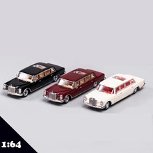 GCD 1:64 Model samochodu ze stopu BeZ 600 Pullman, 6 drzwi + niebo Windows LIMO wersja Model odlewu samochodu 1/64