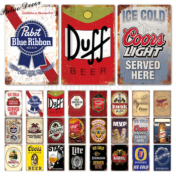 Beer Sign Plaque Metal Vintage Signs  Wall Decor for Bar Pub Club Man Cave Decorative Plates