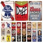Beer Sign Plaque Met...