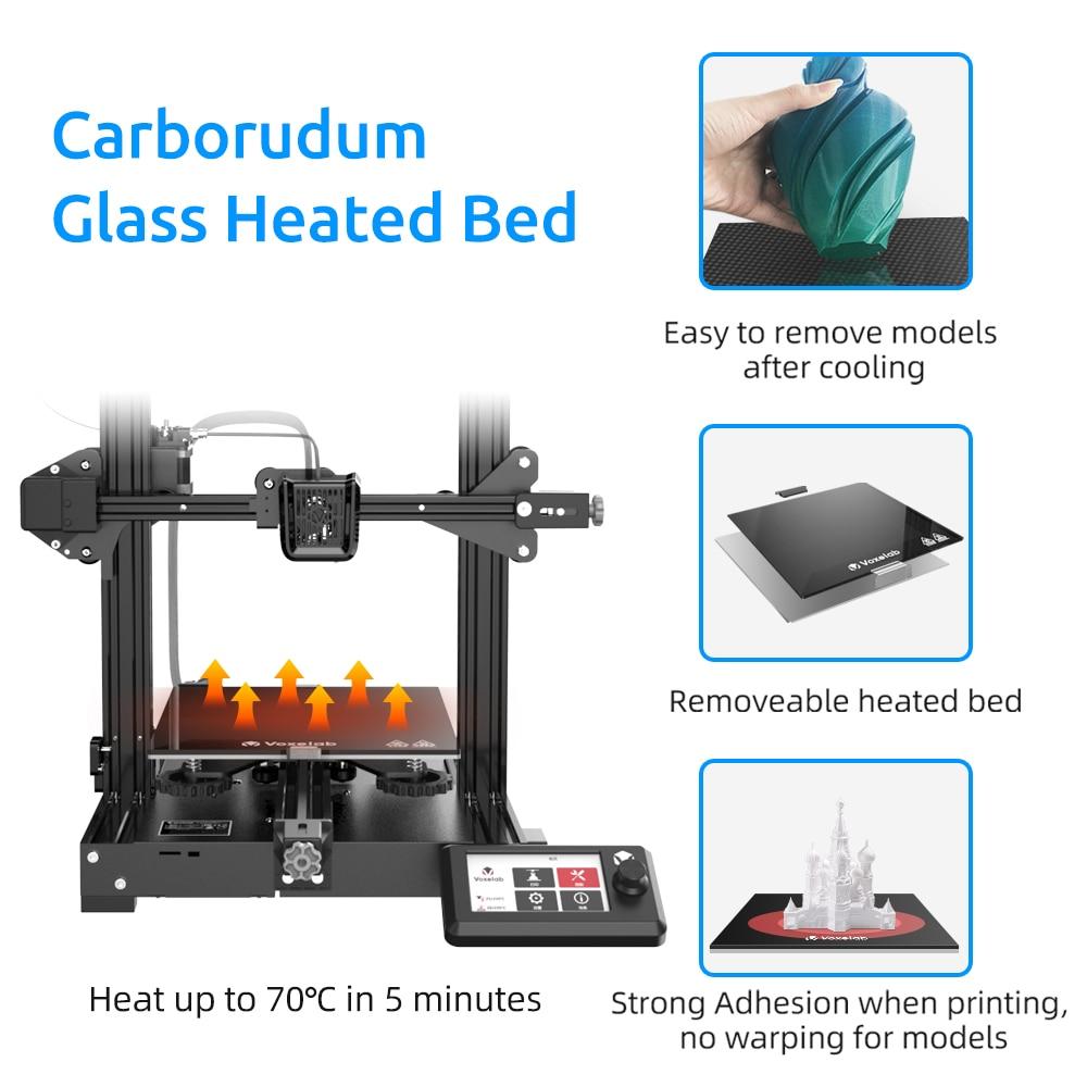 Voxelab Aquila DIY 3D Printer Kit Silent Mainboard Resume Power Failure Printing Carborundum Glass Bed Large Size 3d Printer