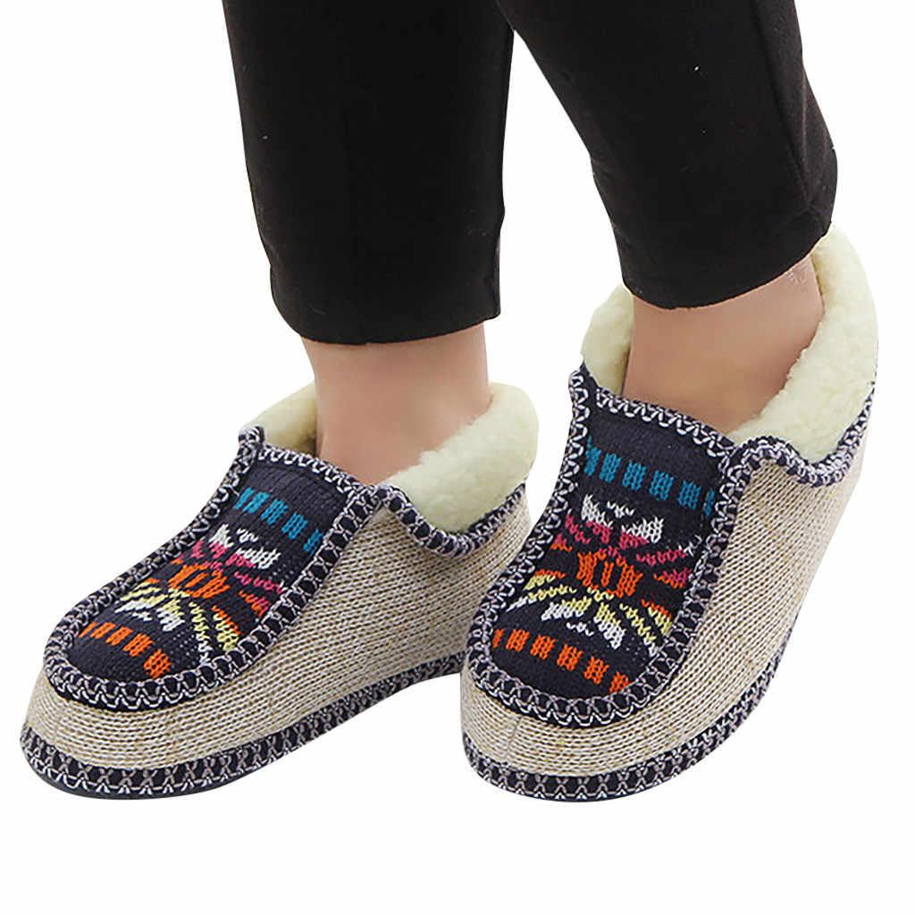 Erkek kadın Ayakkabı örme çiçekler rahat sıcak pamuklu ayakkabılar kısa çizmeler Artı Sizeautumn kış sıcak Bayanlar kızlar Çizmeler Ayakkabı