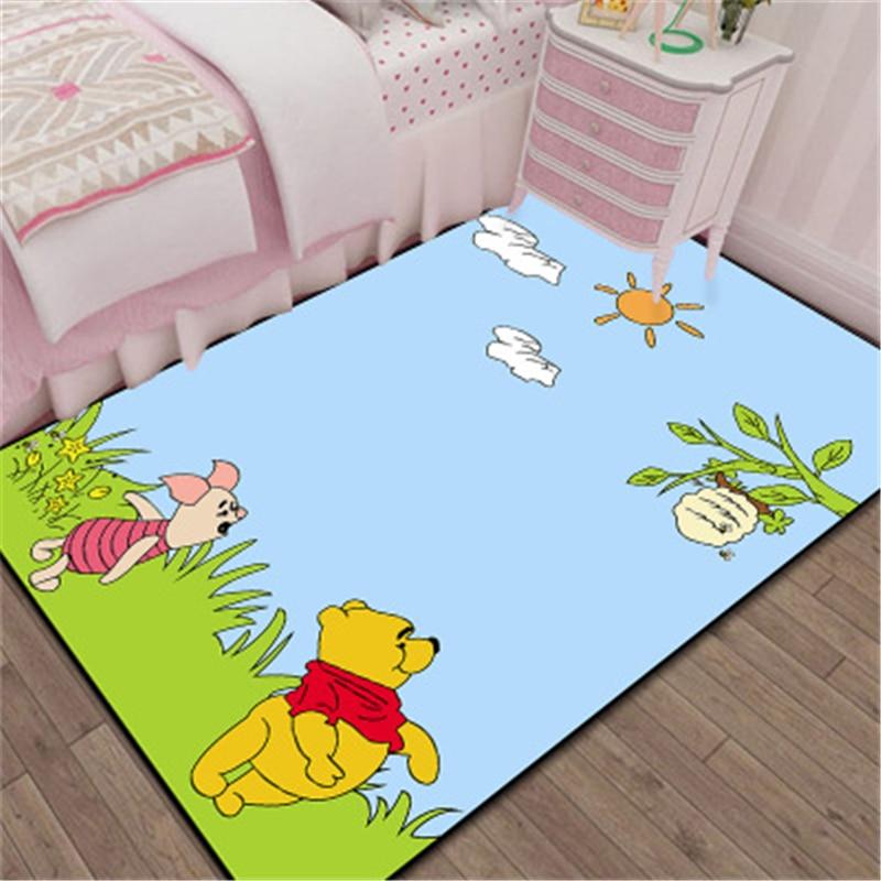 Cartoon 3D Winnie  Door Mat Kids Boys Girls Game Mat Bedroom Kitchen Carpet Indoor Bathroom Mat  birthday present washable