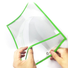 20pcs Dry Erase Pockets Worksheet Sleeves Shop Work Ticket Holder 10x14 inches Drawing Board Dry Brush Bag File Pocket