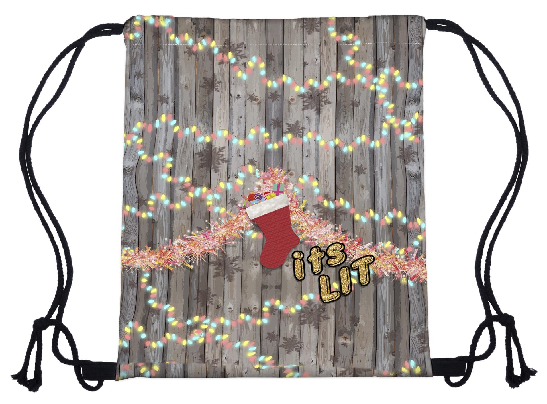 Pocketrope Bagpocket Rope Women Men Bag New Christmas Series Bundle Bag 3D Digital Printed Cartoon Christmas Tape Shoulde Bag