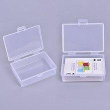 2 pezzi scatole di plastica trasparenti carte da gioco contenitore custodia in plastica imballaggio Poker scatola di carte da gioco per Pokers nuovo 2021