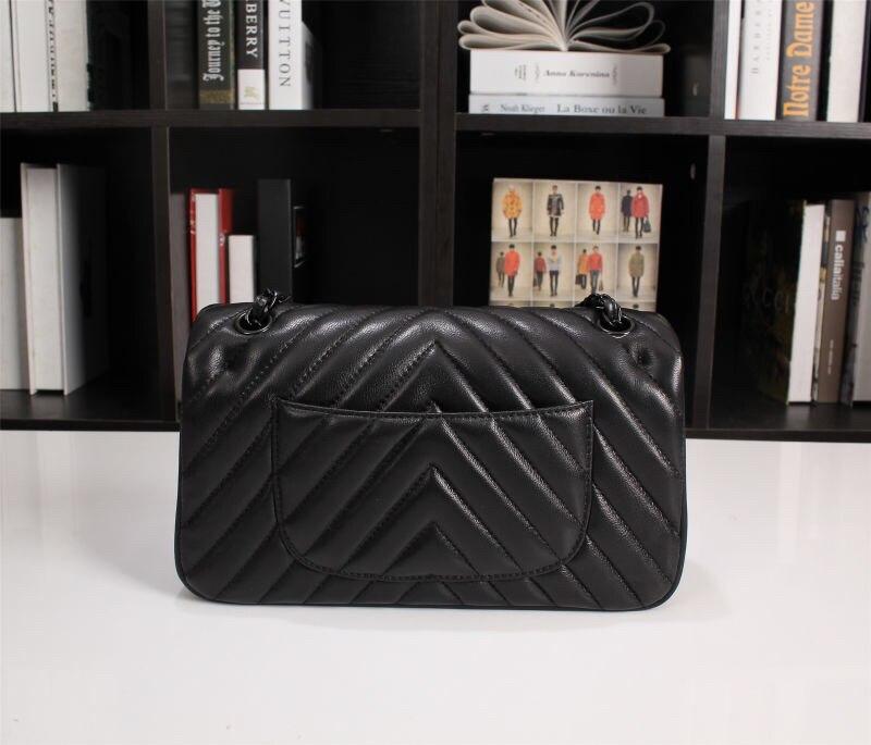 Лидер продаж, модные элегантные женские дизайнерские сумки, женские Полосатые Кожаные сумки на все черные цепи, сумка мессенджер и сумка на ...