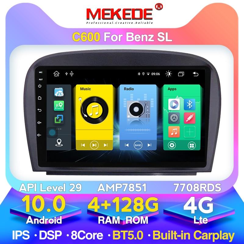 Mekede 9 ''carplay dsp android 10車のgpsステレオラジオマルチメディアメルセデスベンツslクラスSL500 R320 wifi bt 5.0 4 4g lte 128ギガバイト