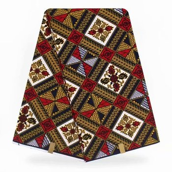 Nigeria wax High Quality fabric African Wax 100% polyester 6 yards Prints Material