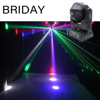 Free Mailing Unlimited Rotate Dj Laser Disco Led Strobe 3 IN 1 Moving Head Light Good Effect Use For Party KTV Night Club Bar