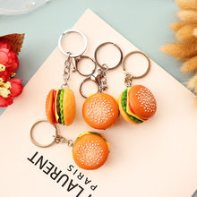 Cute Burger Food Keychains Pendant Creative Car Key Holder Ornament Bag Phone Key Ring Key Chain Fashion Jewelry Gift For Women(China)