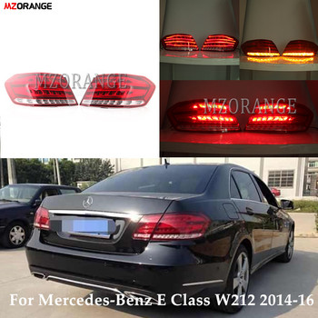 Red Rear Tail Light For Mercedes-Benz E Class W212 E350 E300 E250 E63 2014-2016 Sedan Brake Light Rear Bumper  Tail