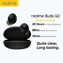 Realme براعم Q2 سماعات أذن TWS بلوتوث 5.0 سماعات لاسلكية سوبر منخفضة الكمون/ENC الحد من الضوضاء سماعة سماعات رأس رياضية جديد