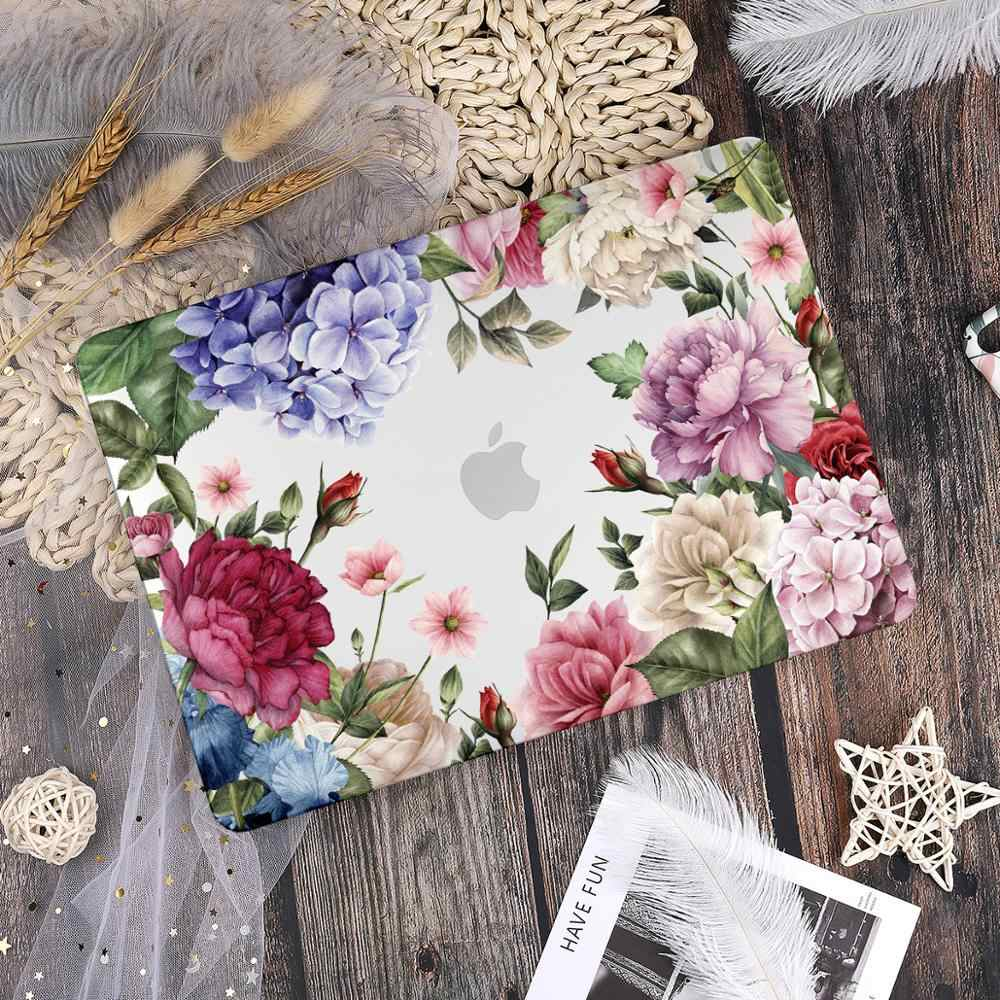 2020 Batianda Bunga Laptop Hard Case Penutup dengan Keyboard Cover For New Macbook Pro Air A1706 A1932 A2179 A2141 Model