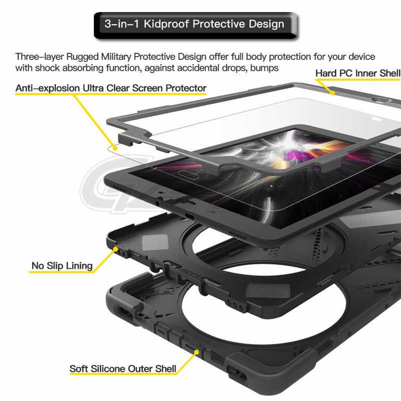 Voor Samsung Galaxy Tab S3 9.7 SM-T820 T825 Piraat Tablet Case Cover Siliconen + PC Kickstand Hard Case Met Pols + Schouderriem