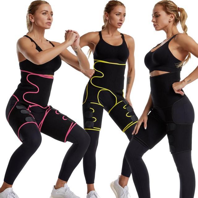 Womens Hip Belt Burst Sweat Polyester Belt Sports Bodybuilding Adjustable One-piece Waist Belt Leg Belt