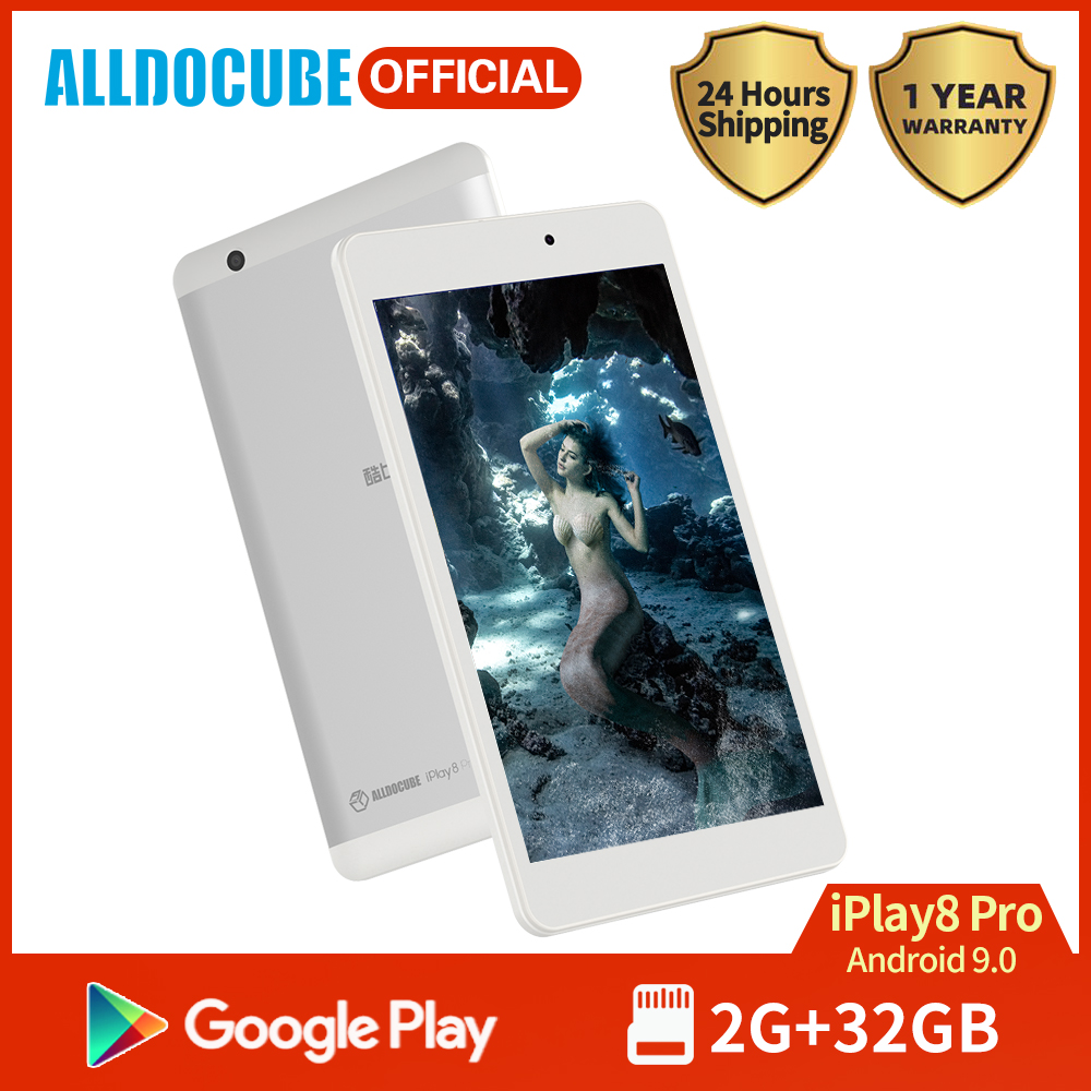 Alldocube Iplay 8 Pro 8 Inch 3G Calling Tablet MTK MT8321 Quad Core 2GB RAM 32GB ROM Android 9.0 Dual Camera GPS Wifi BT4.0